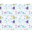Easter bunny pattern vector image vector image