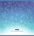 falling snow on the blue and purple background vector image