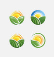 farm icon pack vector image vector image