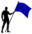 FLAG BEARER UN vector image