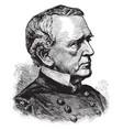 general john a dix vintage vector image vector image