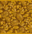 geometric gold fall leaves pattern vector image