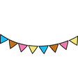 grated party flags decoration to celebration event vector image vector image