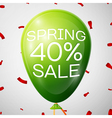 Green Balloon with 40 percent Discounts SALE vector image vector image