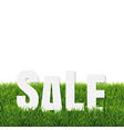 green grass border with sale poster vector image vector image