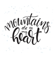hand lettering winter vector image vector image