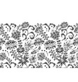 handcrafted motifs - seamless floral border vector image vector image