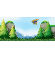 Hang gliding vector image
