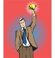 happy businessman holding vector image vector image