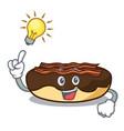 have an idea maple bacon bar mascot cartoon vector image