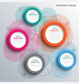 info graphic with abstract design colored rings vector image