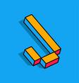 isometric j letter j 3d logo vector image
