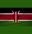 kenya flag flag of kenya blowig in the wind eps vector image vector image