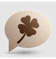 Leaf clover sign Brown gradient icon on bubble vector image vector image