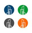line building real estate logo template design vector image