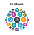 message infographic circle concept smart ui vector image vector image