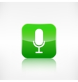 Microphone icon Application button vector image