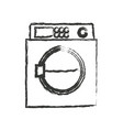 monochrome blurred silhouette of wash machine vector image vector image