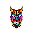 monster colorful mask with different colors vector image