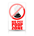 No pet poop zone sign vector image vector image