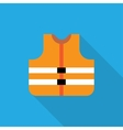 Orange safety vest vector image vector image