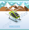 personal helicopter isometric composition vector image vector image
