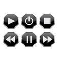 Player icons Web buttons vector image vector image