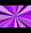Rays Radius Background Center Violet vector image vector image