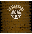 restaurant menu template on a brick background vector image
