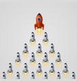rocket leader idea cover vector image