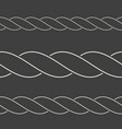 seamless minimalist rope borders can be used as vector image