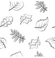 seamless pattern floral background autumn vector image