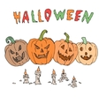 Seamless pattern for Halloween Pumpkin