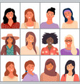 set avatars in flat design style positive vector image vector image