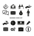 Set business icons simple