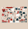set of elements for christmas design vector image vector image