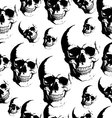 Skull seamless background vector image vector image