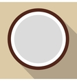 Sliced coconut flat icon vector image vector image