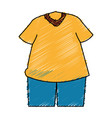 sport wear clothes icon vector image vector image