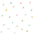 spring pattern floral seamless background vector image
