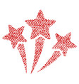star fireworks fabric textured icon vector image vector image
