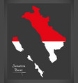 sumatera barat indonesia map with indonesian vector image vector image
