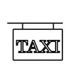taxi road sign vector image