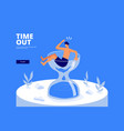 time out concept design vector image vector image