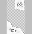 torn paper story paper scraps mega sale social vector image vector image