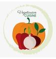 vegetarian cuisine ingredients vegetables organic vector image vector image