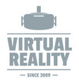 vr vision logo simple gray style vector image