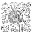 classical italian cuisine pizza vector image
