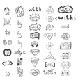 Hand drawn design elements Catchwords with and in vector image