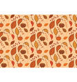 Halloween seamless pattern with pumpkins leaves vector image